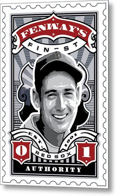 Dcla Ted Williams Fenway's Finest Stamp Art Metal Print