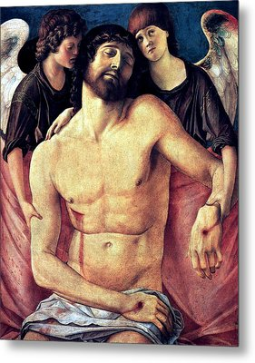 Dead Christ Supported By Angels 1485 Giovanni Bellini Metal Print by Karon Melillo DeVega