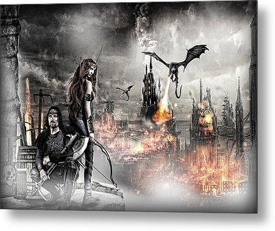 Dead City Metal Print by Wendy White