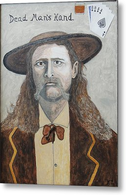 Metal Print featuring the painting Dead Man's Hand.james Butler Hickok. by Ken Zabel