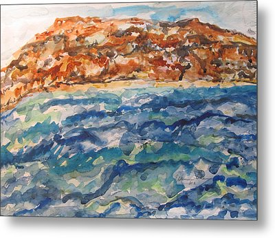 Dead Sea Reflections Metal Print by Esther Newman-Cohen