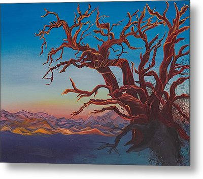 Metal Print featuring the painting Dead Tree by Yolanda Raker