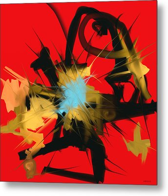 Metal Print featuring the digital art Deadly Fight by Martina  Rathgens