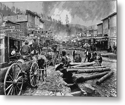 Deadwood South Dakota C. 1876 Metal Print