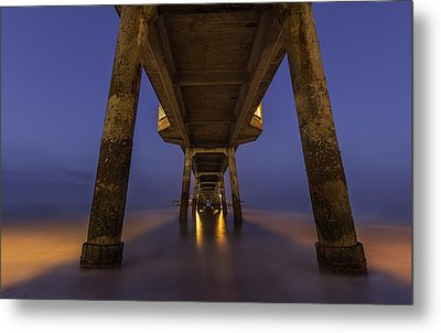 Deal Pier At Night Metal Print