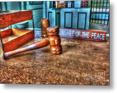 Dealing Justice Metal Print by Dan Stone