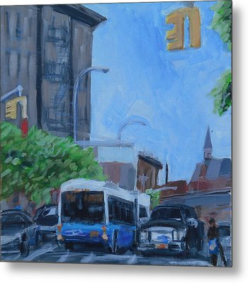 Metal Print featuring the painting Dean St And Nostrand Ave by Tu-Kwon Thomas