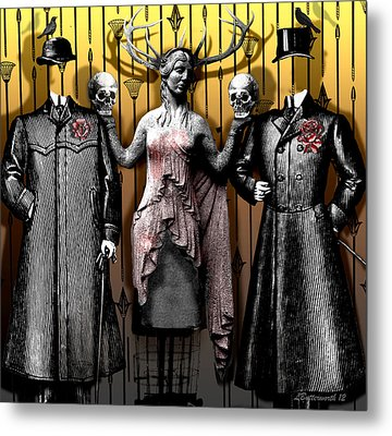 Death And The Maiden Metal Print by Larry Butterworth