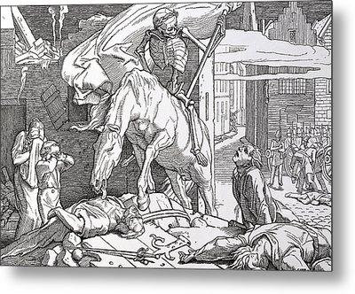 Death As Victor Metal Print by Alfred Rethel