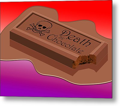 Death By Chocolate Metal Print