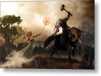 Death Knight And Fairy Queen Metal Print by Daniel Eskridge