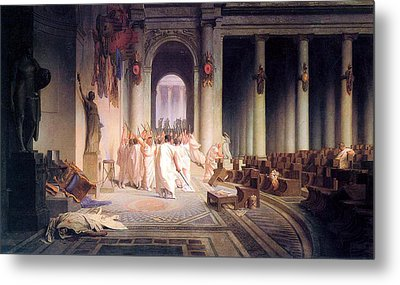 Death Of Caesar Metal Print