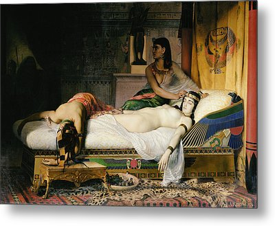 Death Of Cleopatra Metal Print
