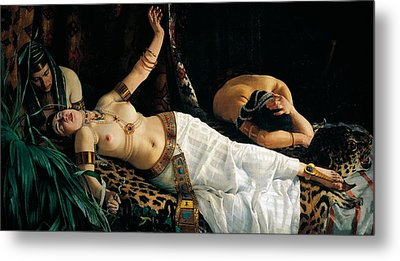 Death Of Cleopatra Metal Print by Achilles Glisenti