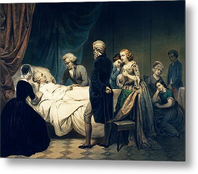 Death Of George Washington Metal Print by Library Of Congress