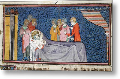 Death Of King Louis Ix Metal Print by British Library