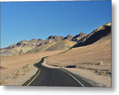 Metal Print featuring the photograph Death Valley Meander by Dana Sohr