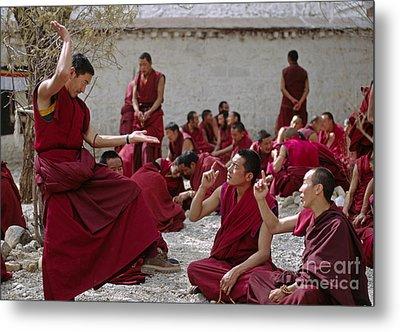 Debating Monks - Sera Monastery Lhasa Metal Print by Craig Lovell