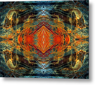 Decalcomaniac Intersection 2 Metal Print