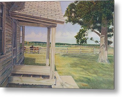 Decayed Farm House Metal Print