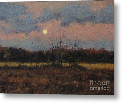 December Moon Metal Print by Gregory Arnett