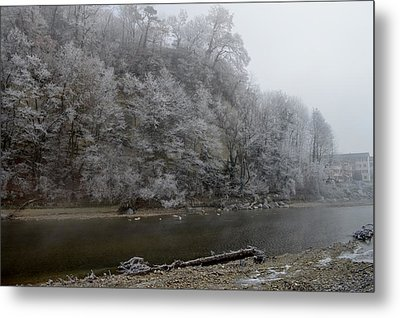 Metal Print featuring the photograph December Morning On The River by Felicia Tica