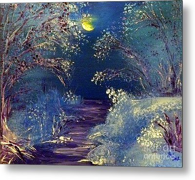 December Night Metal Print by Alys Caviness-Gober