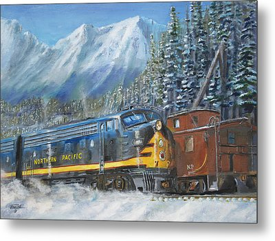 December On Stampede Pass Metal Print by Christopher Jenkins