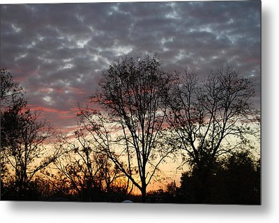 Metal Print featuring the photograph December Sunset by Ramona Whiteaker