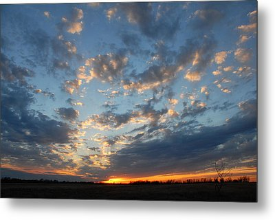 Metal Print featuring the photograph December Sunset by Susan D Moody
