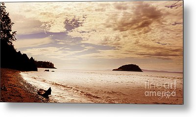 Metal Print featuring the photograph Deception Bay Washington by Artist and Photographer Laura Wrede