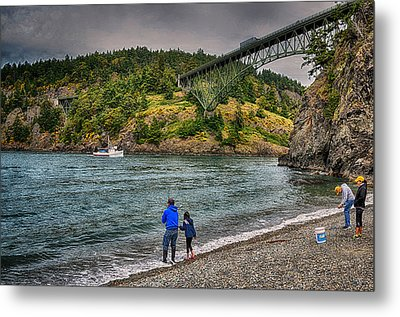 Deception Pass Metal Print by Kelly Reber