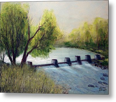 Metal Print featuring the mixed media Dechutes River by Kenny Henson