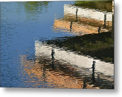 Deck Reflections Metal Print