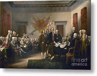 Declaration Of Independence Metal Print by Pg Reproductions