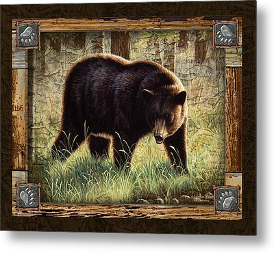 Deco Black Bear Metal Print