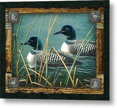 Deco Loons Metal Print by JQ Licensing