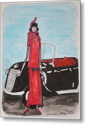 Deco Mama W/convertible Metal Print by Mary Kay De Jesus