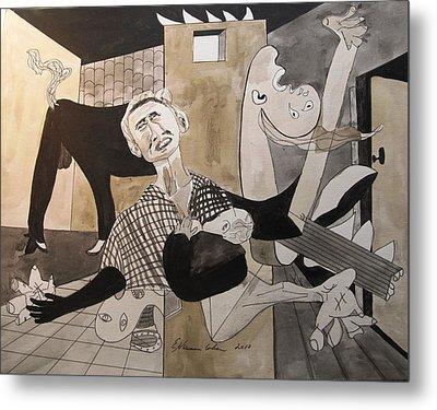 Deconstructing Picasso - La Agonia Espanola Metal Print by Esther Newman-Cohen