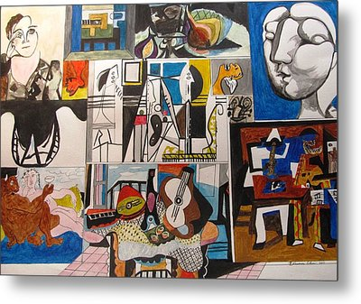 Deconstructing Picasso - Women And Musicians Metal Print by Esther Newman-Cohen