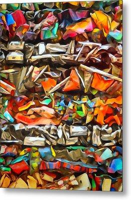 Deconstruction Metal Print by Lutz Baar