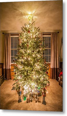 Metal Print featuring the photograph Decorated Christmas Tree by Alex Grichenko