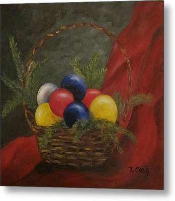 Decorated For Christmas Metal Print by Nancy Craig