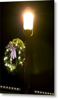 Decorating For Christmas Metal Print by Kenneth Albin