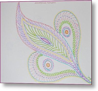 Decorative Leaf Metal Print