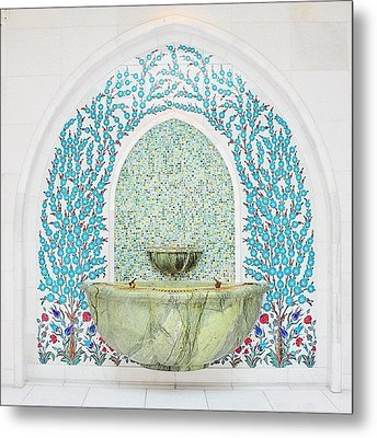 #decorative #wallceramic #grandmosque Metal Print by Devi Gunawan