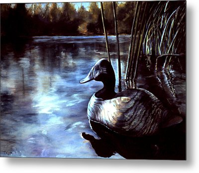 Decoy At Tealwood Metal Print