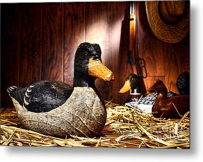 Decoy In Old Hunting Barn Metal Print by Olivier Le Queinec