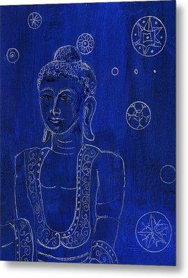 Deep Blue Buddha Metal Print