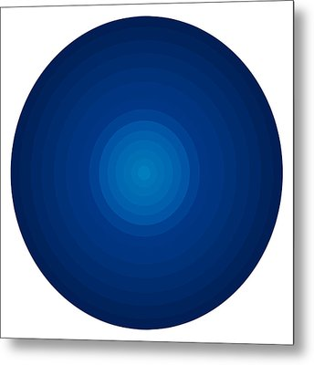 Deep Blue Circles Metal Print by Frank Tschakert